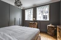 cool twin windows of London De Walden Street luxury apartment