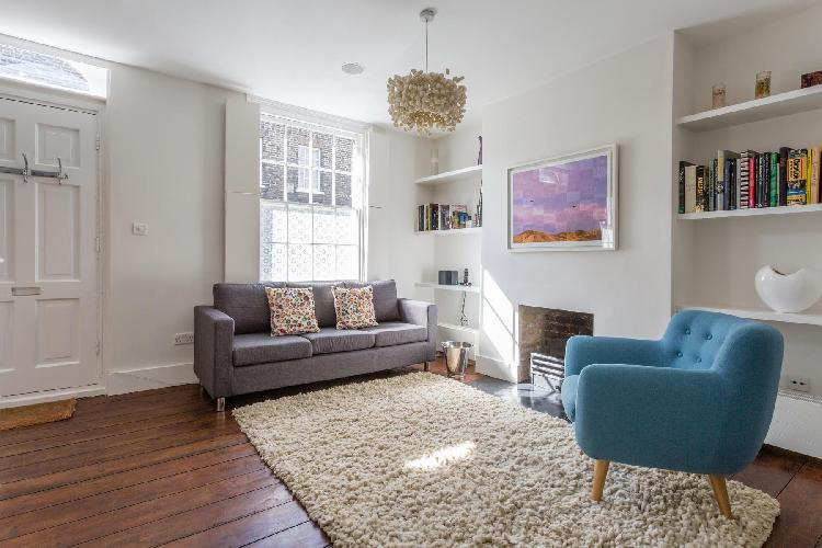 delightful sitting room of London Whittlesey Street luxury apartment
