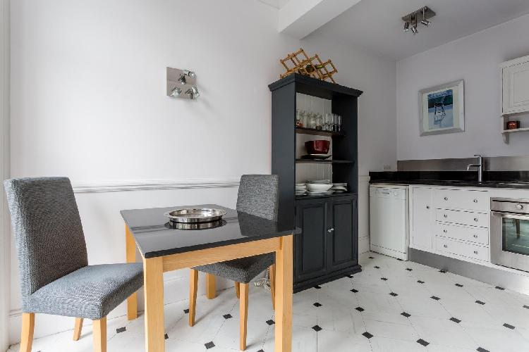 nice, well-appointed kitchen of London Cranley Place IV luxury apartment