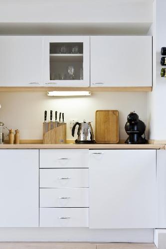 nice kitchen accessories in London Hatton Garden luxury apartment