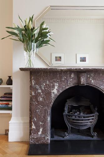 cool fireplace in London Ladbroke Terrace luxury apartment