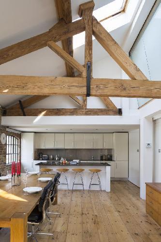 cool ceiling of London Weston Street luxury apartment