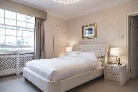 bright and breezy bedroom in London Albert Terrace luxury apartment