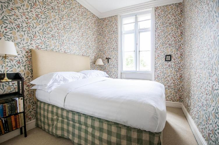 adorable bedroom in London Kensington Church Street luxury apartment