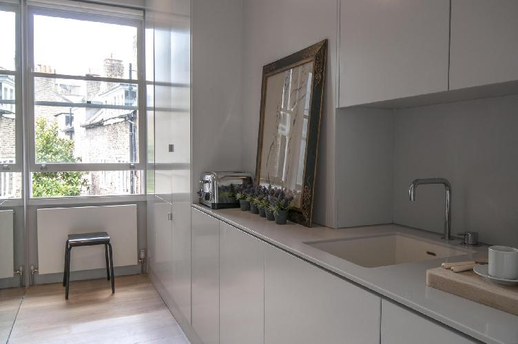 nice kitchen of London Old Church Street II luxury apartment
