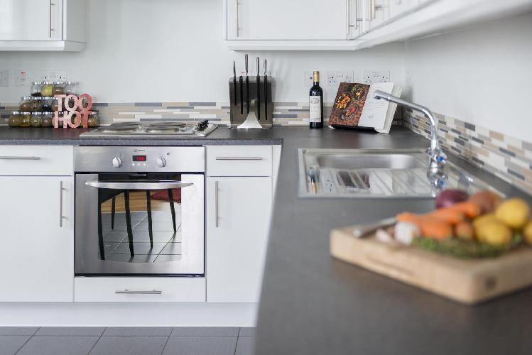 modern kitchen appliances and fittings in London Earnshaw Street luxury apartment
