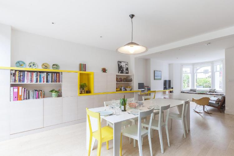 awesome dining area in London Ramsden Road luxury apartment