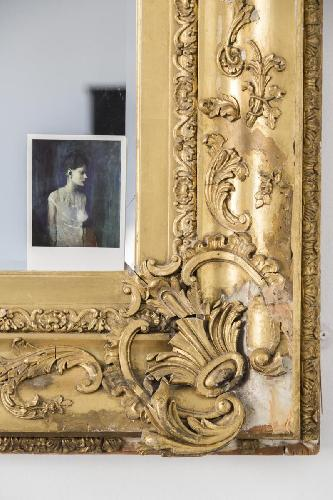 detail of fine-crafted living-room mirror in London Alderney Street III luxury apartment