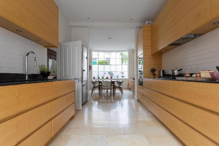 cool modern kitchen of London Pitt Street luxury apartment