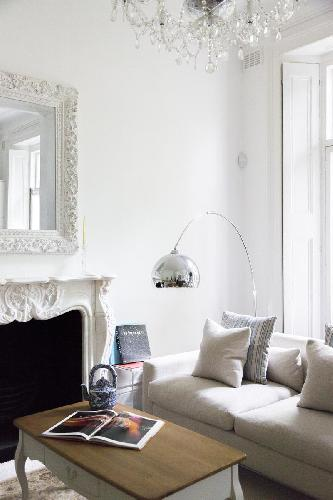 nice fireplace in London Porchester Square III luxury apartment