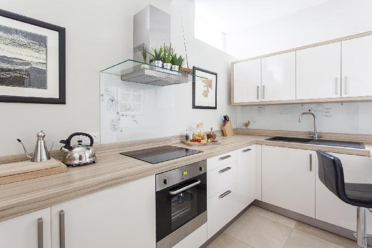 cool modern kitchen of London Redcliffe Square VI luxury apartment