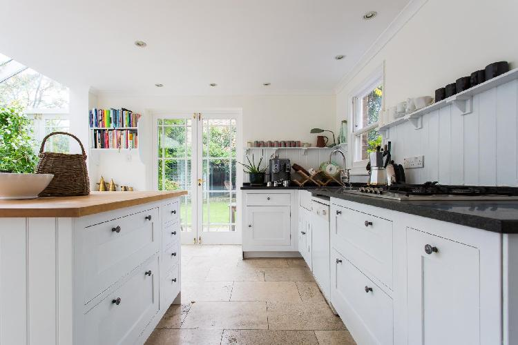 beautiful, well-appointed kitchen of London Culford Road luxury apartment