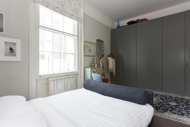 cool bedroom furnishings in London Chepstow Road IV luxury apartment