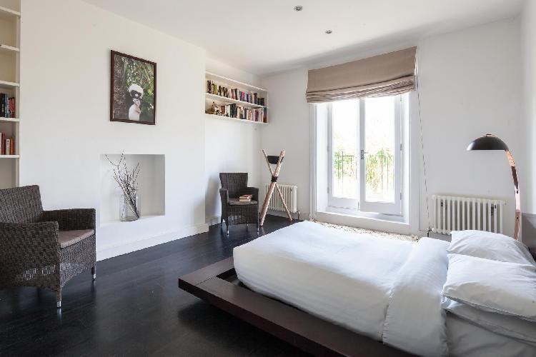 pretty bedroom in London Elsworthy Terrace luxury apartment