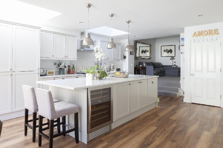awesome kitchen island of London Keildon Road luxury apartment