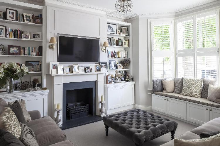 nice TV room of London Keildon Road luxury apartment