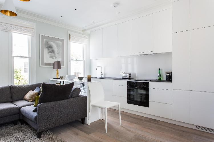 awesome kitchen in London Disraeli Road luxury apartment