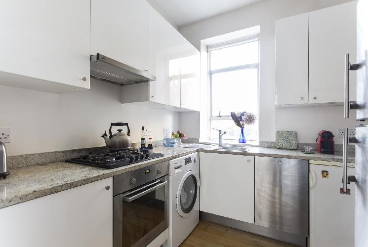 nice modern kitchen of London Ledbury Road II luxury apartment