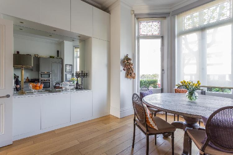 fully furnished kitchen of London Eton Avenue III luxury apartment