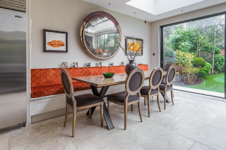 delightful dining room of London Vanbrugh Road luxury apartment