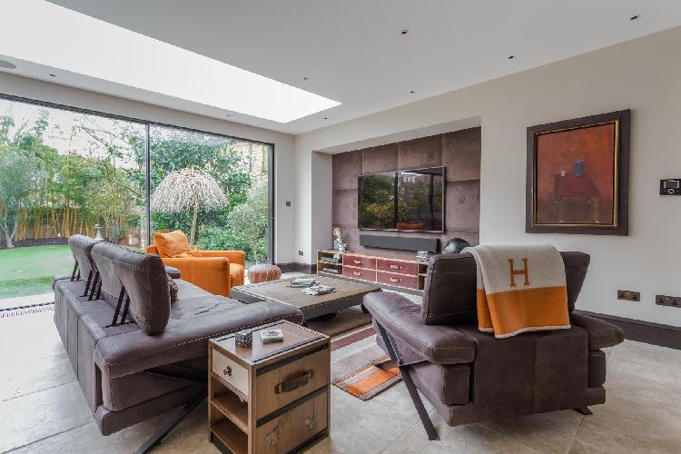 cool skylights of London Vanbrugh Road luxury apartment