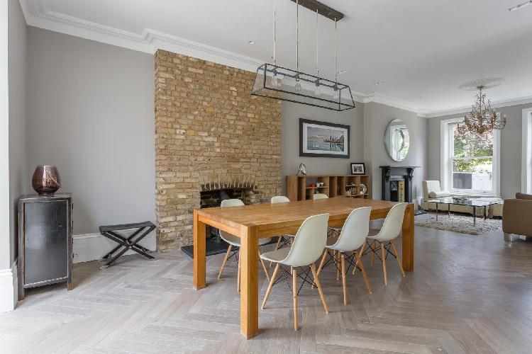 delightful dining room of London Priory Road West luxury apartment