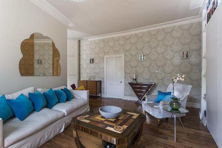 charming sitting room of London Shaftesbury Avenue luxury apartment