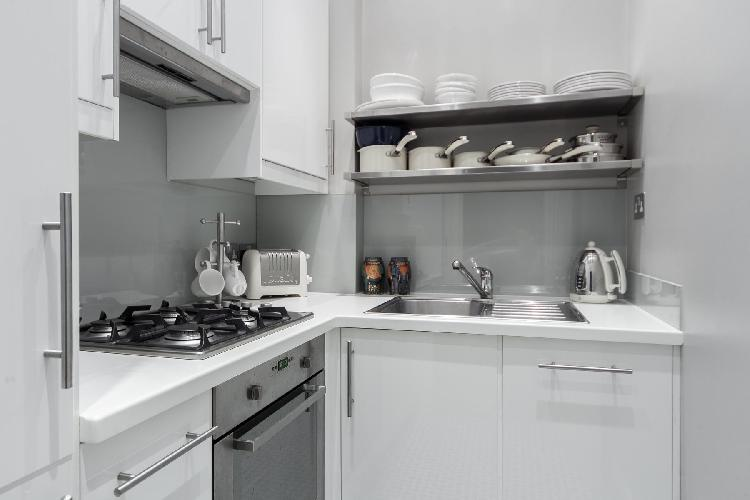 cool modern kitchen of London Cathcart Road IV luxury apartment