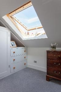 shed ceiling with window in London Afghan Road luxury apartment