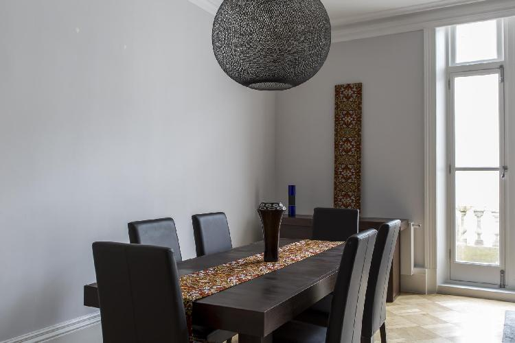 dashing dining area in London De Vere Gardens III luxury apartment