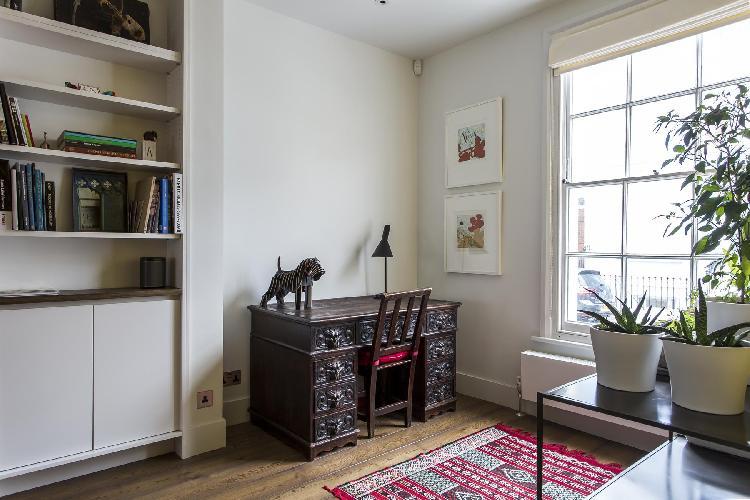 generous window in London Callcott Street luxury apartment