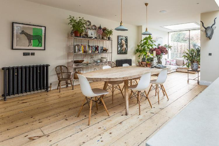 breezy and bright dining room London Barlby Road III luxury apartment