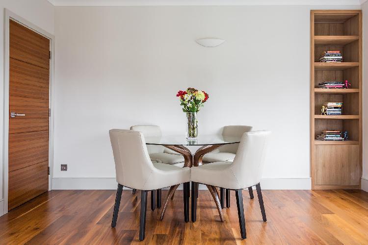 delightful dining area in London Radnor Lodge luxury apartment