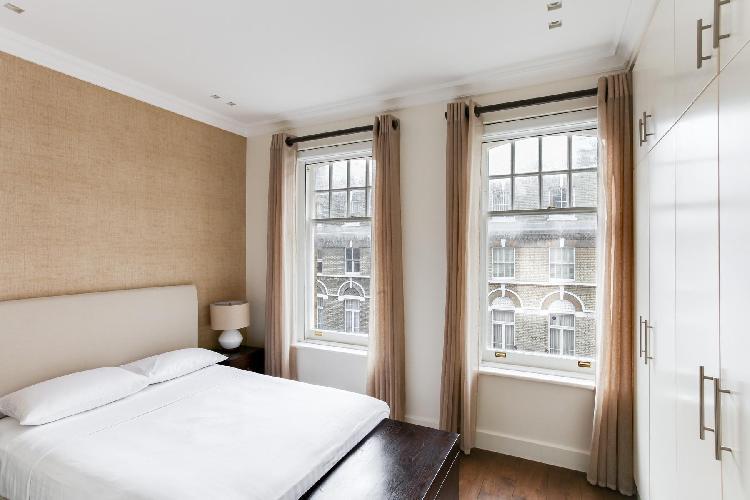 delightful bedroom of London Elm Park Gardens XIII luxury apartment
