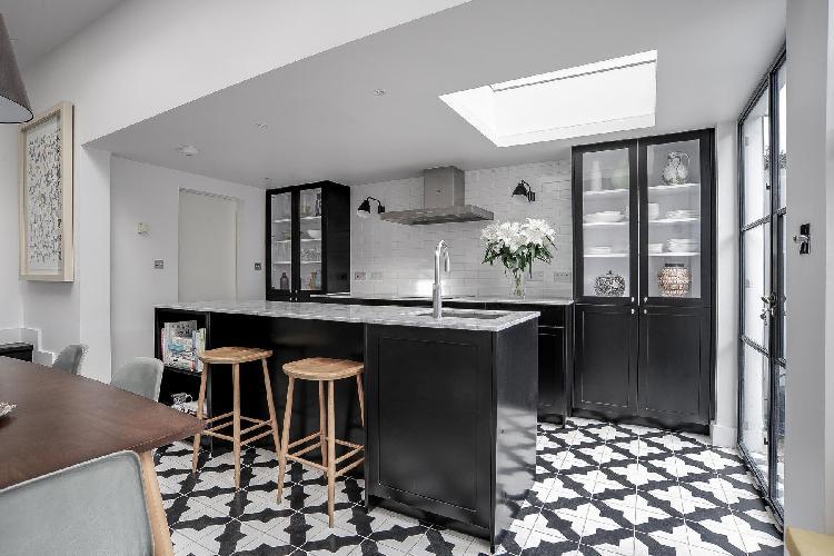 cool skylight of London Masbro Road luxury apartment