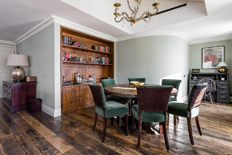 dashing wooden floorboards of London Curzon Street luxury apartment