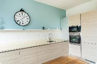 modern kitchen counter in London Airlie Gardens IV luxury apartment