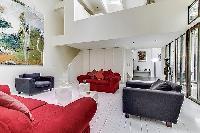 a 2-bedroom loft Paris luxury apartment seems like a modern art gallery