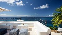 cool terrace of Saint Barth Villa Mauresque luxury holiday home, vacation rental