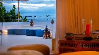 cool balcony of Saint Barth Villa Mauresque luxury holiday home, vacation rental
