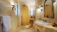 cool rain shower in Saint Barth Villa Mauresque luxury holiday home, vacation rental