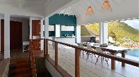 cool dining area in Saint Barth Villa Flamands Bay luxury holiday home, vacation rental