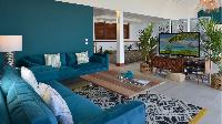 cool sitting area in Saint Barth Villa Flamands Bay luxury holiday home, vacation rental