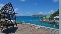 cool poolside of Saint Barth Villa Flamands Bay luxury holiday home, vacation rental
