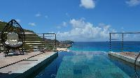awesome infinity pool of Saint Barth Villa Flamands Bay luxury holiday home, vacation rental