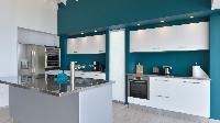 modern kitchen of Saint Barth Villa Flamands Bay luxury holiday home, vacation rental