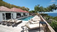 cool balcony of Saint Barth Villa Serenity luxury holiday home, vacation rental