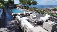 cool poolside of Saint Barth Villa Serenity luxury holiday home, vacation rental