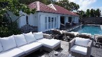 cool patio of Saint Barth Villa Serenity luxury holiday home, vacation rental