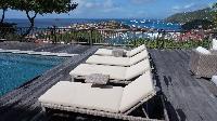cool sun loungers at Saint Barth Villa Serenity luxury holiday home, vacation rental